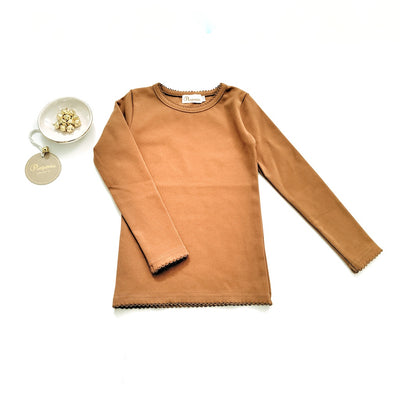 Lara Long Sleeve T in Rust