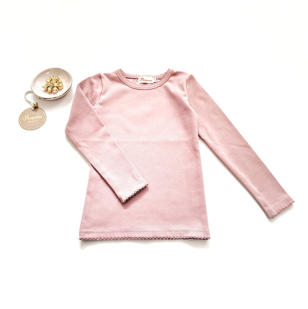 Lara Long Sleeve T in Dark Blush