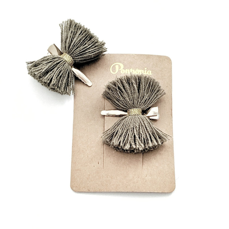 Papillon Hair Clip - Forest