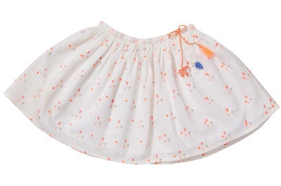 Printed & Embroidered soft cotton skirt, skirts - Ponponia