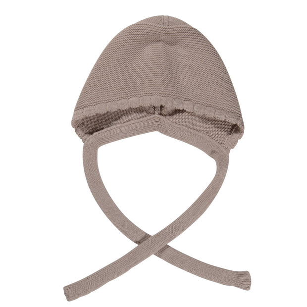 Knitted cotton bonnet- Linen, hats - Ponponia