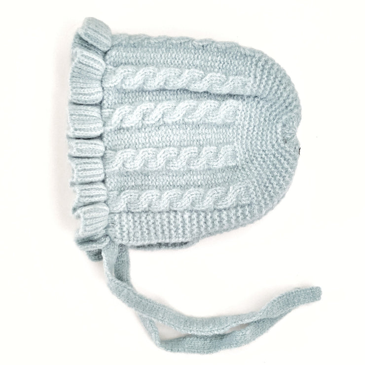 Georgia Knitted Bonnet - Baby Blue