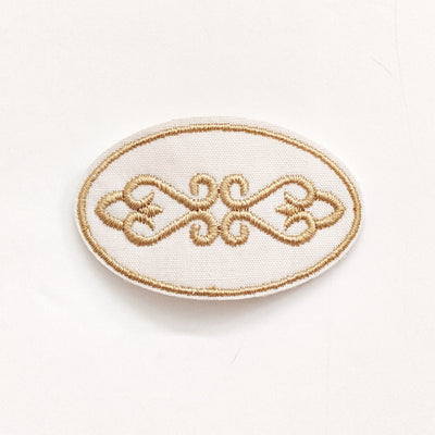 Hindi Embroidered Hair Clip - Creme de la Creme