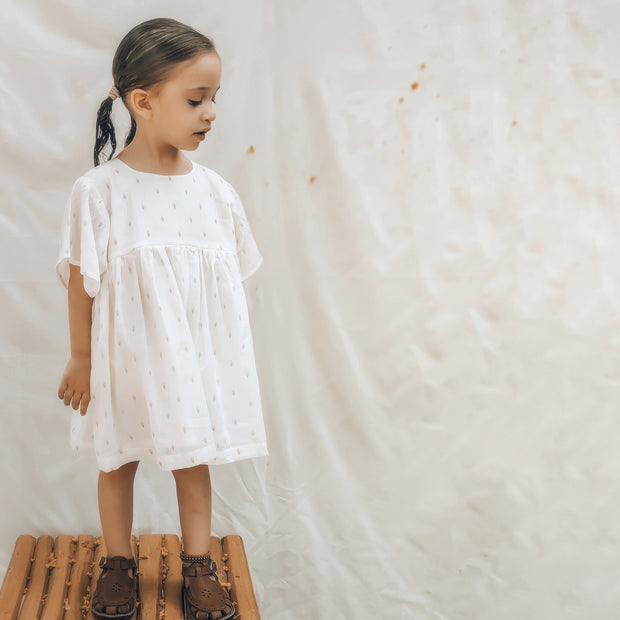 The Larki Dress in Whipped Cream
