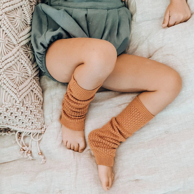 Lulu Leg Warmers in Faded Coral