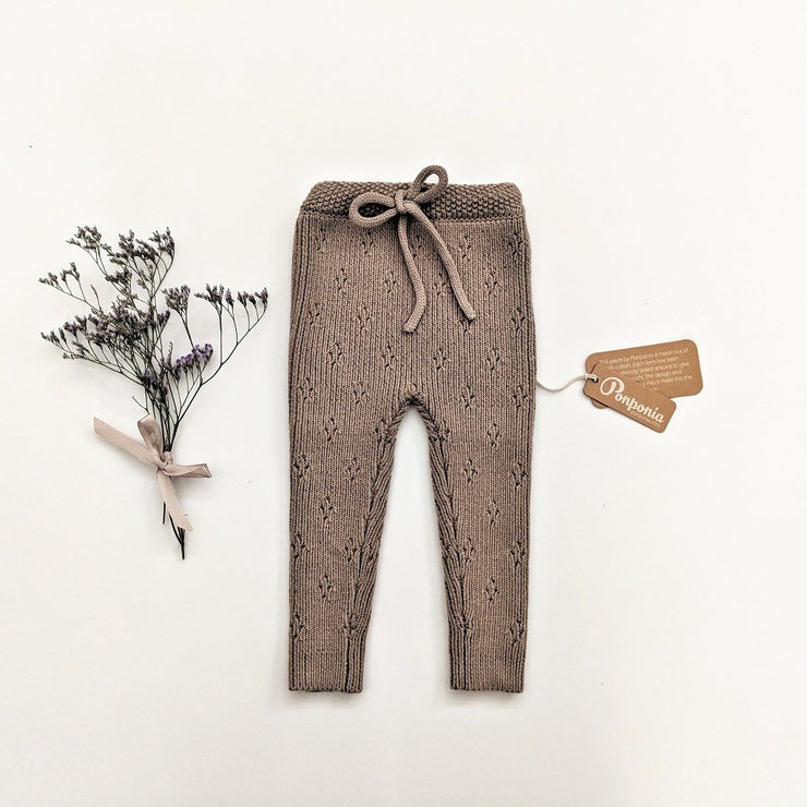 Sacha Knitted Pants in Grey Champagne, pants - Ponponia