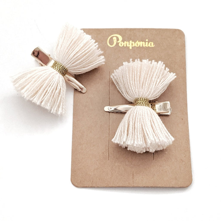 Papillon Hair Clip - Cream