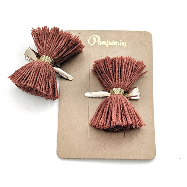 Papillon Hair Clip - Crimson