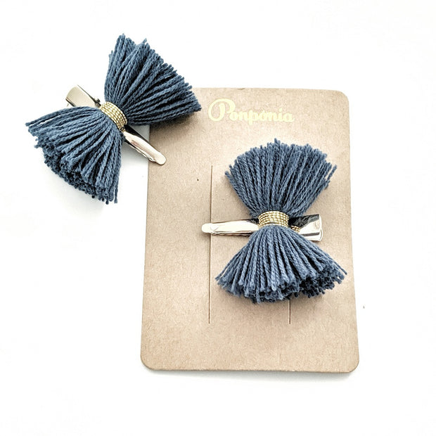 Papillon Hair Clip - Peacock Blue