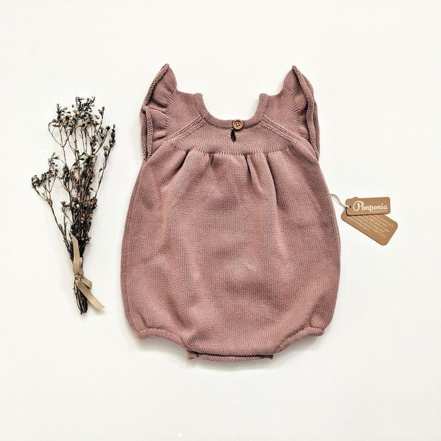 Luna Balloon Romper in Winter Rose, Rompers - Ponponia