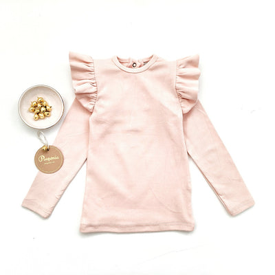 Roni Ruffled Top in Blush