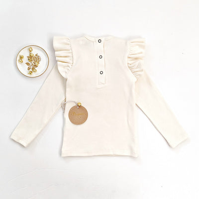 Roni Ruffled Top in Ivory