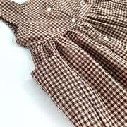 Sadie Dress - Brown Plaid