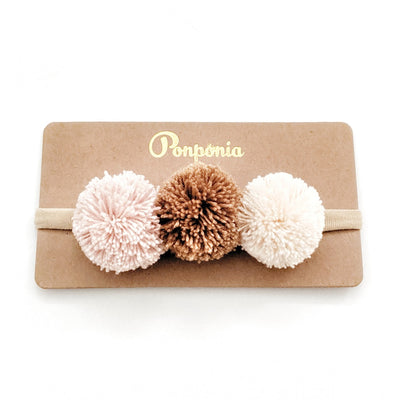 Pompom Trio Head Band - Sakura