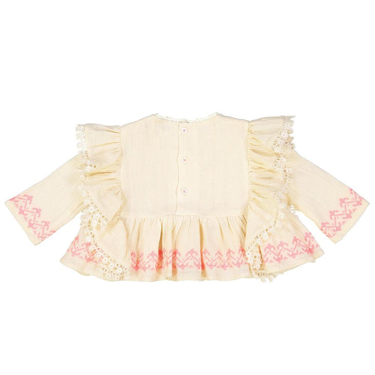 Embroidered ruffles shirt, shirts - Ponponia