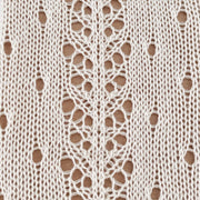 Side lacework tights - cream