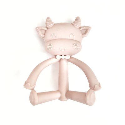Cow Silicone Teether - Nude Pink