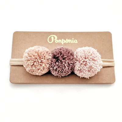 Pompom Trio Head Band - Sunset