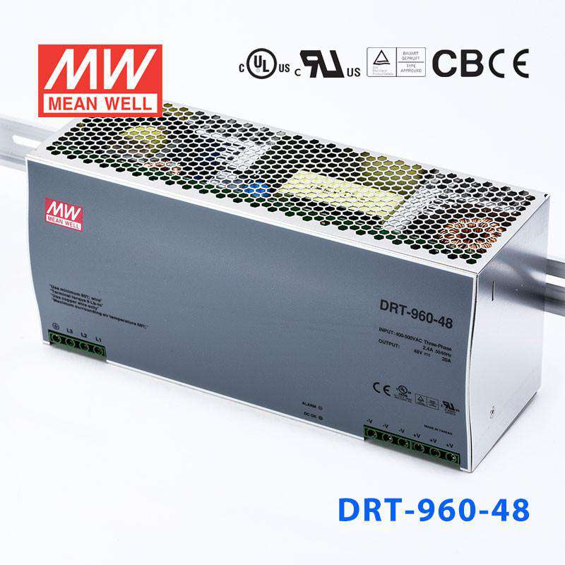 Buy Mean Well DRT-960-48 Power Supply - 960W 48V 20A - 3-Phase Input for -  $ 219 48 USD