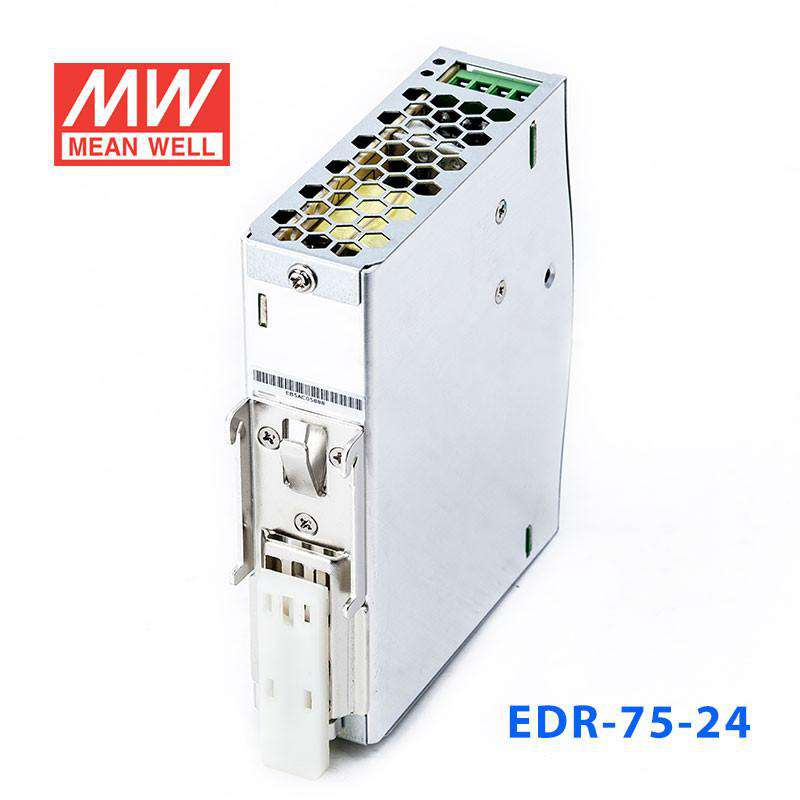 Mean Well EDR-75-24 75W Economical AC to DC DIN Rail Power Supply 24V DC 3.2A