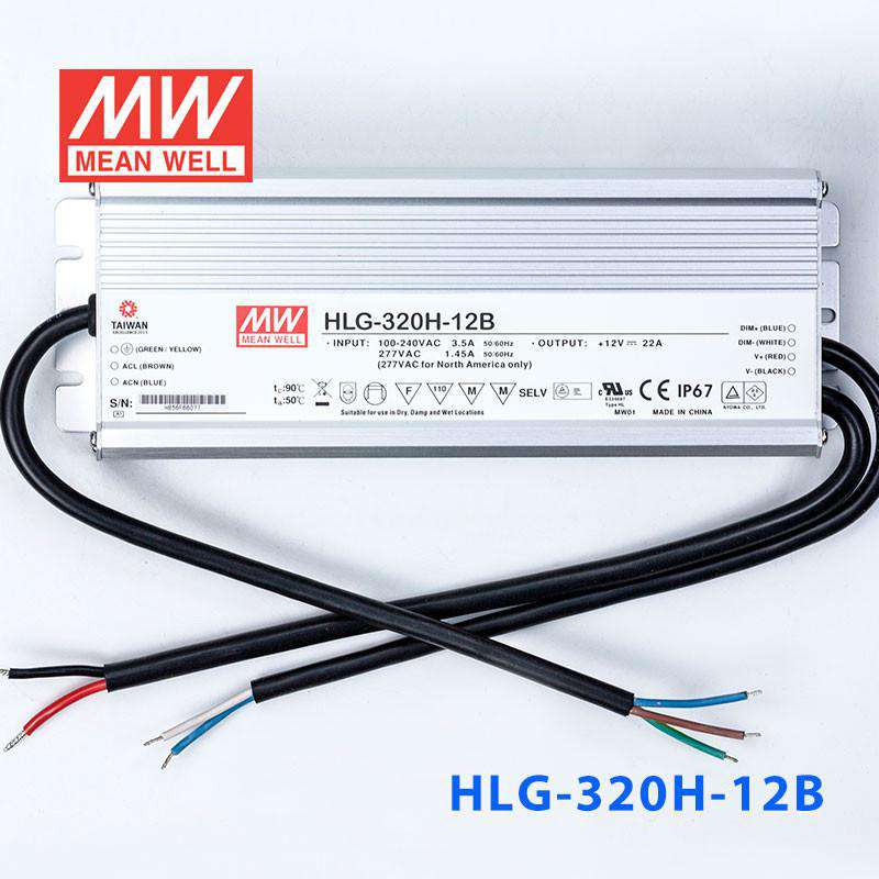 IP67 260W 12V 22A Meanwell HLG-320H-12 Power Supply