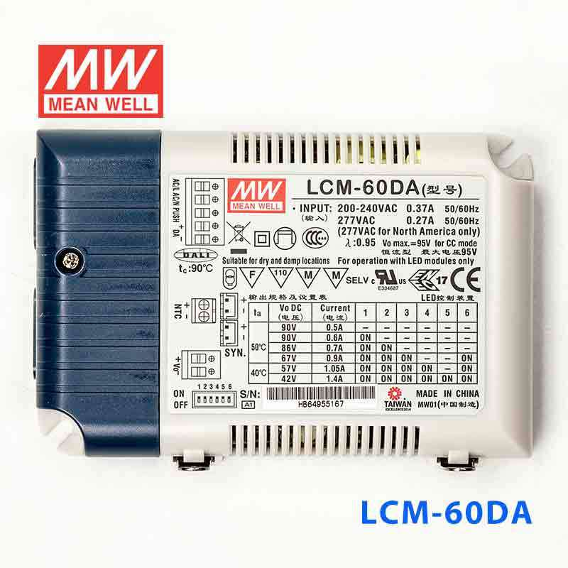 MeanWell LCM-60DA LED dimable DALI Power Supply