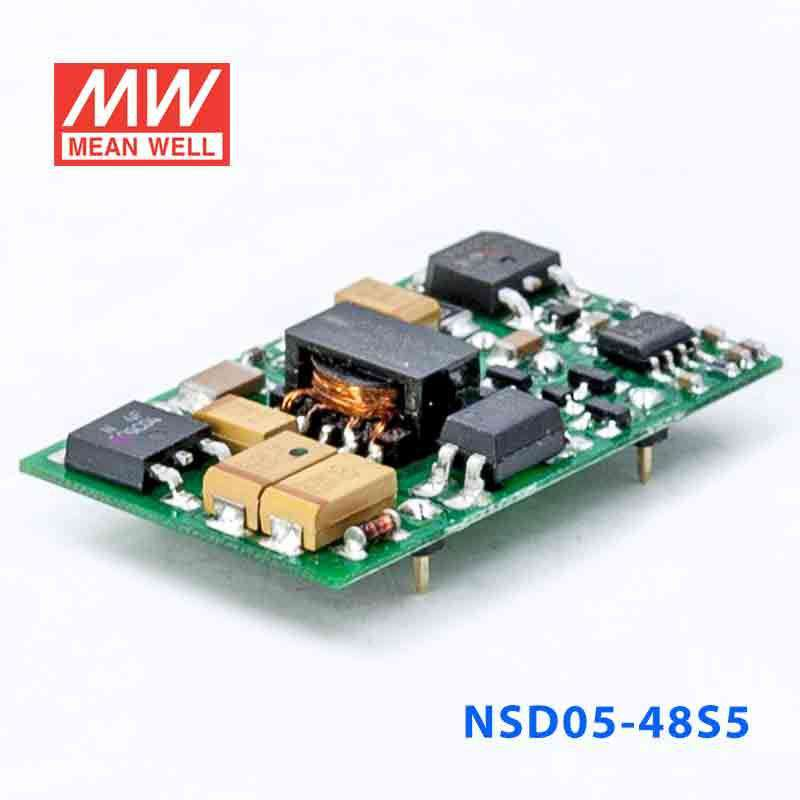 MEAN WELL NSD05-48S5 5V 1A 5W DC-DC Regulated Single Output DC//DC Converter