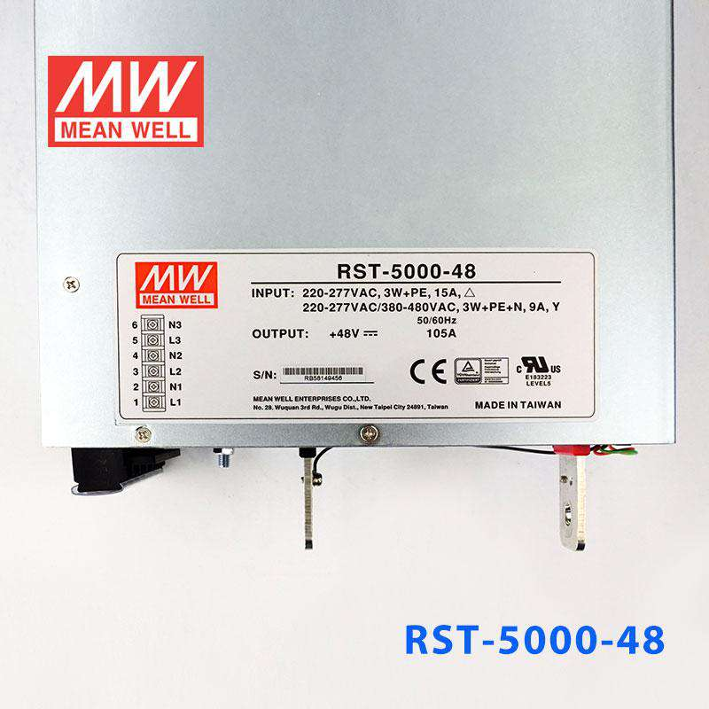 Buy Mean Well RST-5000-48 Power Supply - 5040W 48V 105A for