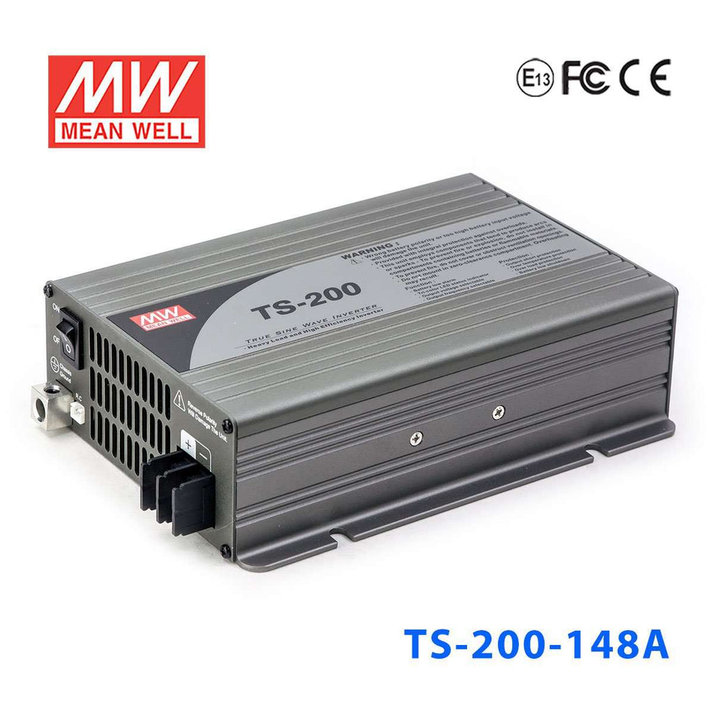Meanwell Ts 200 148a Dc Ac Inverter 200w 48vdc 110vac True Sine Wav Pure Wave Design With Code Report