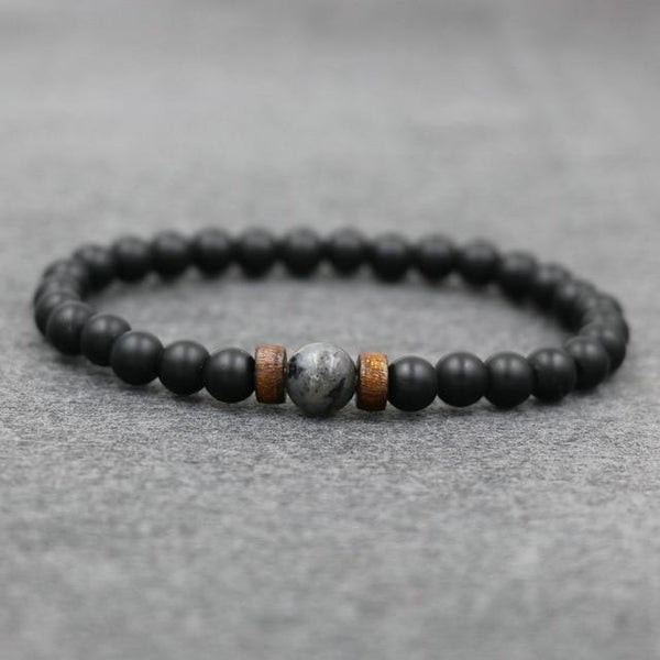 2pcs/set Tibetan Men Bracelet 6mm Lava Stone Moonstone Beads Bracelet Chakra Yoga Buddha Bead Bracelet For Men Jewelry Bileklik