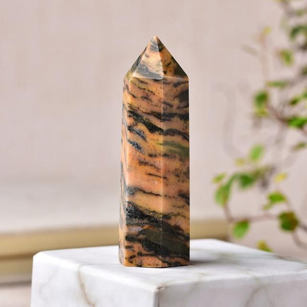 Natural Crystal - Healing Stone -Pyramid shape