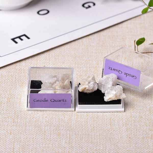 1Box Natural Mineral Specimen Natural Crystal Quartz Ornaments Healing Stone Home Decor Teaching Specimens Gifts for Children