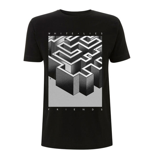 'Monochrome Friends' Black T-Shirt