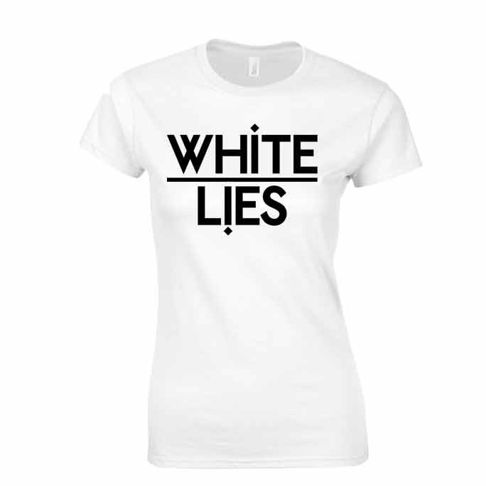 'Logo' White Ladies T-Shirt
