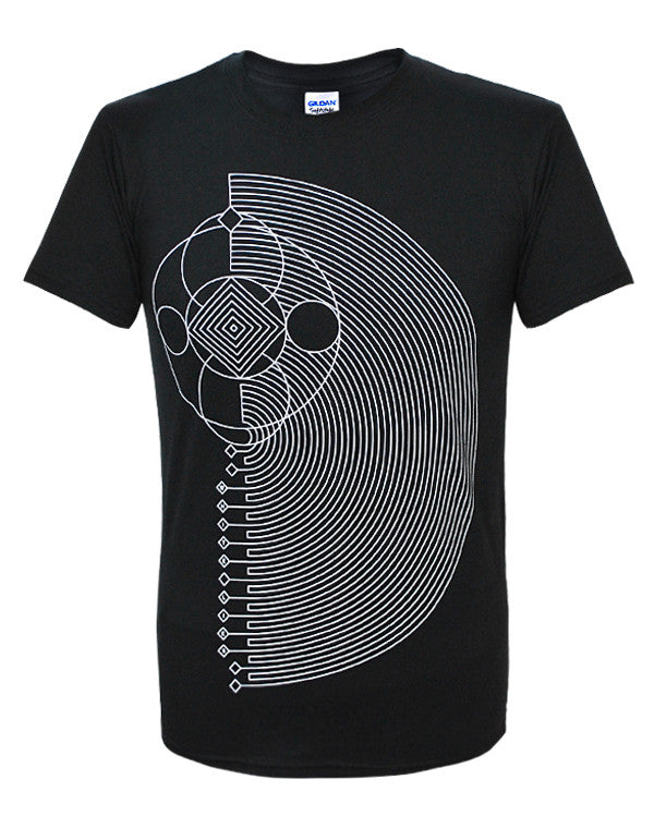 'Geometric' Black T-Shirt