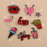 10 Pcs  Iron On Embroidered Motif Applique Glitter Sequin Decoration Patches DIY Sew on Patch for Jeans, clothing