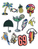 28 pcs of exotic iron-on embroidered patches for Jeans, T shirts, Bags, DIY projects