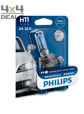 Philips WhiteVision koplamp H11 | Philips WhiteVision lampe pour éclairage avant H11