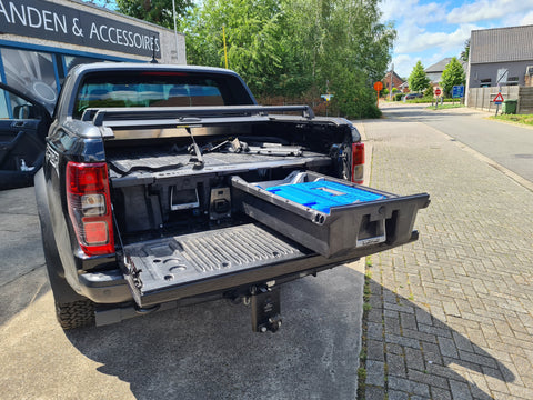 DECKED ladesysteem voor Ford Ranger Raptor Double Cab | DECKED coffre à tiroir pour Ford Ranger Raptor Double Cab