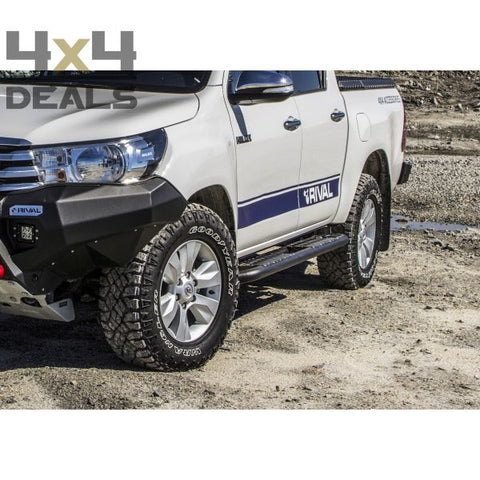Rival side protection steps / rock sliders voor Toyota Hilux DC (2016+) | Rival side protection steps / rock sliders pour Toyota Hilux DC (2016+)