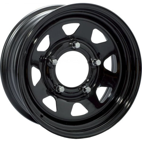 Goss Steel 8 Spoke Black 7x16
