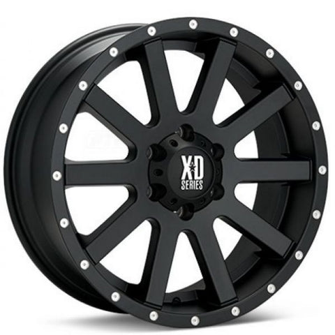 KMC Heist Satin Black 9x17