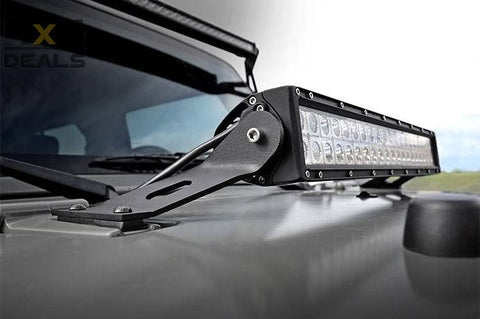 Rough Country beugels voor ledbar Jeep Wrangler JK | Rough Country support pour barre LED Jeep Wrangler JK