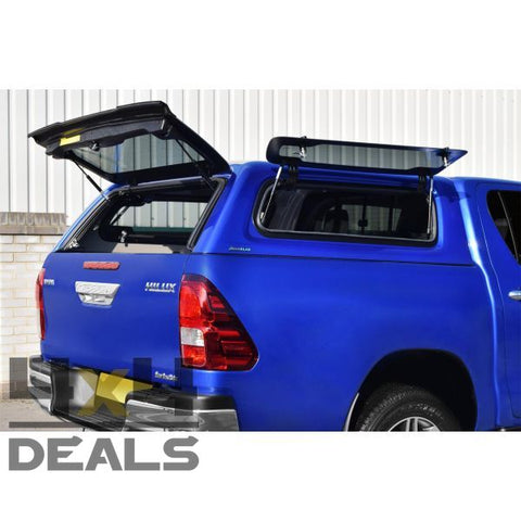 Aeroklas hardtop lift-up windows voor Toyota Hilux Double Cab (2016+) | Aeroklas hardtop lift-up windows pour Toyota Hilux Double Cab (2016+)