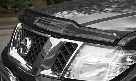 Bonnet Guard Dark Smoke Voor Nissan Navara D40 (10-14) | Bonnet Guard Dark Smoke Pour Nissan Navara D40 (10-14)