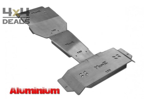 More4x4 skidplate set aluminium voor Toyota Land Cruiser 150 (09-14) | More4x4 ski de protection aluminium pour Toyota Land Cruiser 150
