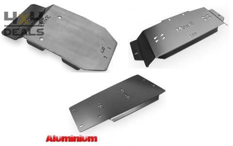 More4x4 skidplate set aluminium voor Toyota Land Cruiser 150 (2014+) | More4x4 ski de protection aluminium pour Toyota Land Cruiser 150