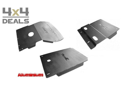More4x4 skidplate set aluminium voor Toyota Land Cruiser 90 (96-02) | More4x4 ski de protection aluminium pour Toyota Land Cruiser 90