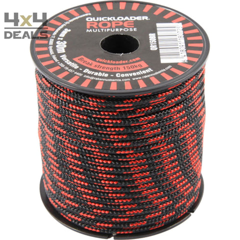 Quickloader Touw 3Mm Zwart-Rood | Quickloader Corde 3Mm Noir-Rouge