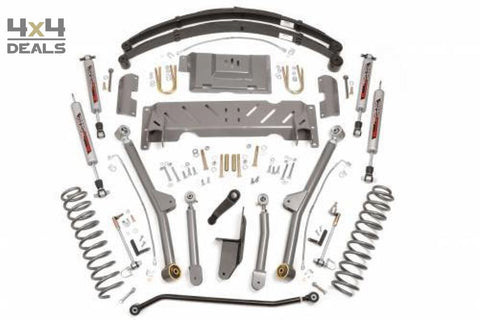 Rough Country 4.5 Long Arm Lift Kit Voor Jeep Cherokee Xj | Rough Country 4.5 Long Arm Lift Kit Pour Jeep Cherokee Xj